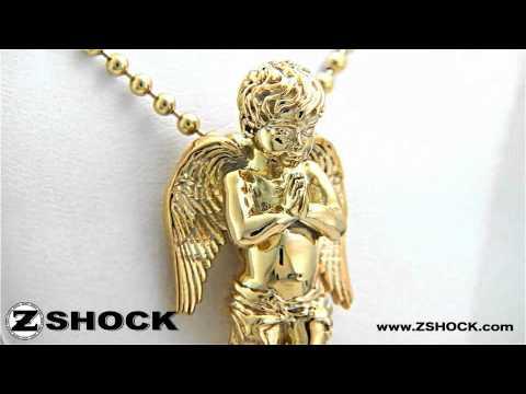 Guardian Angel Pendant | Praying Cherub Necklace Charm By ZShock