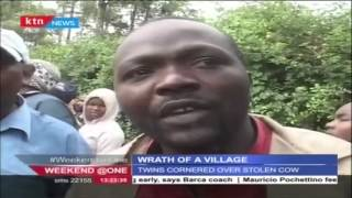 Angry Villagers In Nyeri Hunt Down A Pair Of Twins Who Allegedly Stole A Cow