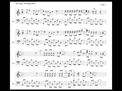 Taeyang - Wedding Dress ( piano cover with sheet music ) on YOUZEEK.com