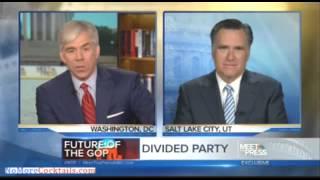 Mitt Romney's Meet The Press Interview from 11-3-13 Part 2