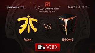 EHOME vs Fnatic, game 2