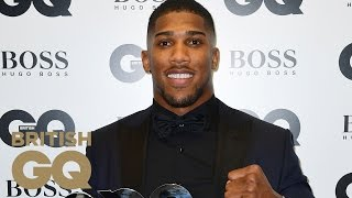 Anthony Joshua Accepts his Sportsman of the Year Award |  British GQ