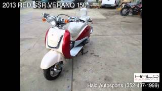 8. 2013 RED SSR VERANO 150  - Brooksville, FL 34613 - Used Cars