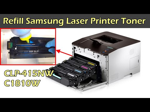 SAMSUNG Color Laser Printer Toner Refill - CLP-415NW C1810W