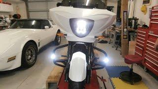 7. Victory Cross Country Crash Bar Light install