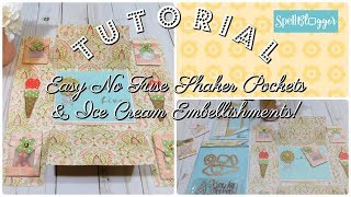 Easy Shaker Pockets and Ice Cream Embellishments Tutorial. In this paper crafting tutorial I show you how you can use dies from Spellbinders to easily make shaker pockets, without the use of a fusing tool. That's right! NO FUSE TOOL NEEDED! I also share with you how I make these cute ice cream embellishments using stamps and dies from Spellbinders! In addition, I share how to make an EASY snail mail flip book to send to your BFF!  Visit my Blog Post Here: http://www.decor8yourlife.com/shaker-pocket-tutorial-easy-diy-shaker-pockets/ Spellbinders Dies I used on this Project:Stamp & Die Template Set (ice cream cone and sentiment) http://shrsl.com/j2j4Designer Series Window Mini Pocket S4-630  (for shaker pocket) http://shrsl.com/j2j6Amazing Grace Cascading Grace Pocket S6-046 (to decorate the envelope) http://shrsl.com/j13r💙Thank you for watching my videos.💙💙If you enjoy my content, go ahead and SUBSCRIBE to my channel through the following link. It's FREE: https://www.youtube.com/channel/UCB3-qWxI9uJObJTgR2df7FQ?sub_confirmation=1🦋 CHECK OUT MY BLOG AND SIGN UP FOR BLOGHOPS &  GIVEAWAYS🦋 : http://www.decor8yourlife.com/paper-crafting-ideasHelpful tool that helps you improve your channel:https://www.tubebuddy.com/decor8yourlife🦋Contact info: snagel2012@gmail.com 💙Check out other paper crafting videos here:💙Paper Crafting Tutorials - http://goo.gl/1T3KugDesign Team Projects - http://goo.gl/SWL4l8Flip Book Ideas and Tutorials - http://goo.gl/ZHxyBPPocket Letter Ideas and Tutorials - http://goo.gl/fPKTJKPlan with Me Decorate your Planner Ideas and Tutorials - http://goo.gl/6rHLKs- - - - - - - - - -💙CHECK OUT MY WEBSITE HERE:💙Visit my blog and check out my picture gallery here http://www.decor8yourlife.com/blogshttp://www.shabbychicpapercrafting.com- - - - - - - - - -💙DESIGN TEAM CREDITS:💙Spellbinders SpellbloggerKS4UJ&S Hobbies and Crafts Spellbinders® Shopping Star Teamhttp://www.spellbinderspaperarts.com/shopping-star-team/Crafters with Artitude 2016 Inspirational TeamC