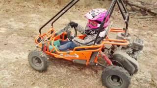 8. Evelyn (#3)- Riding her Hammerhead Torpedo Go-Kart
