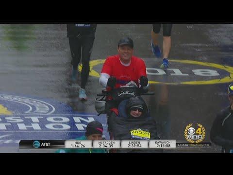 Team Hoyt Finishes The Boston Marathon