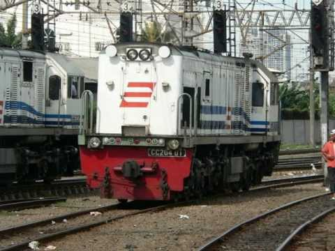 Locomotief in Indonesië - Locomotive in Indonesia