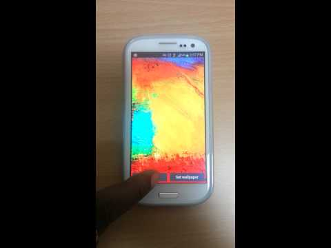 Video of Galaxy Note 3 Live Wallpaper