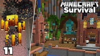 Let's Play Minecraft Survival : PORT TOWN & Blaze Farm : Episode 11