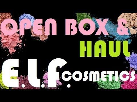 E.L.F. HAUL | OPEN BOX | FIRST IMPRESSIONS (видео)