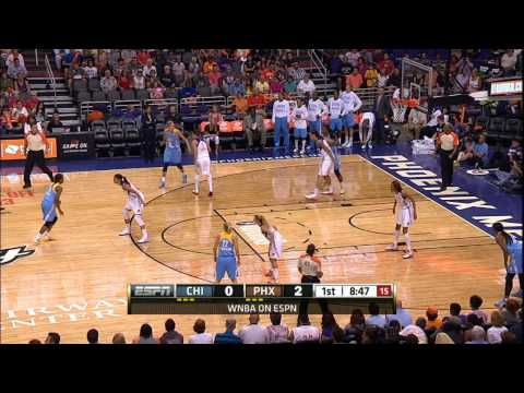 Brittney Griner First WNBA points and block!