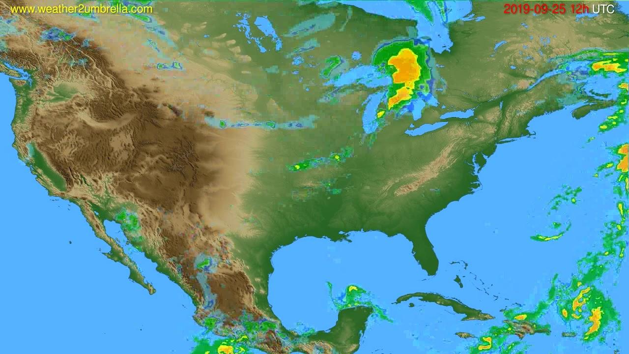 Radar forecast USA & Canada // modelrun: 00h UTC 2019-09-25