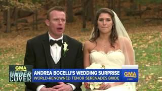 Video Andrea Bocelli Surprise Wedding Serenade MP3, 3GP, MP4, WEBM, AVI, FLV Agustus 2018