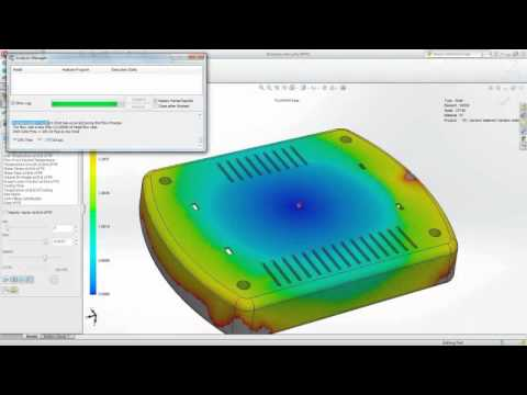 SolidWorks Plastics Video Image