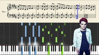 My Chemical Romance - Na Na Na - Piano Tutorial + Sheets