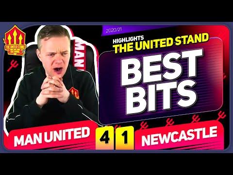 Man United 4-1 Newcastle Mark Goldbridge BEST BITS
