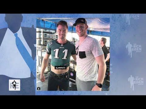 Josh Duhamel Explains His Eagles Belly Shirt Photo with Carson Wentz | The Rich Eisen Show | 3/13/18