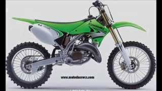 4. Evolution of Kawasaki kx-125 from 1974 to 2008.