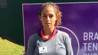 Carolina Meligeni analisa condições no Brasil Tennis Cup