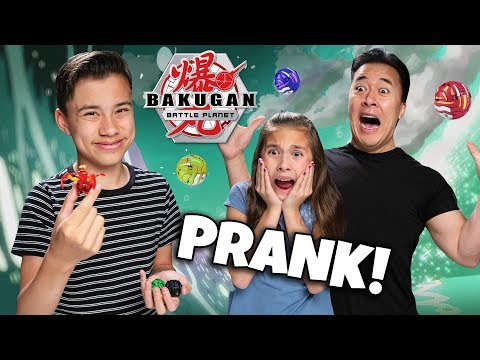 BAKUGAN BRAWL!!! EVAN PRANKS HIS FAMILY INTO BATTLE!