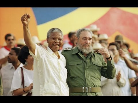 nelson - http://www.democracynow.org - In 1991, Nelson Mandela traveled to Cuba to meet with then president Fidel Castro on one of his first international trips after...