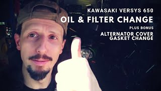 5. Kawasaki Versys 650 Oil & Filter Change + Bonus Alternator Cover Gasket Change