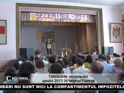 Totalizările secerişului anului 2011 în raionul Floreşti