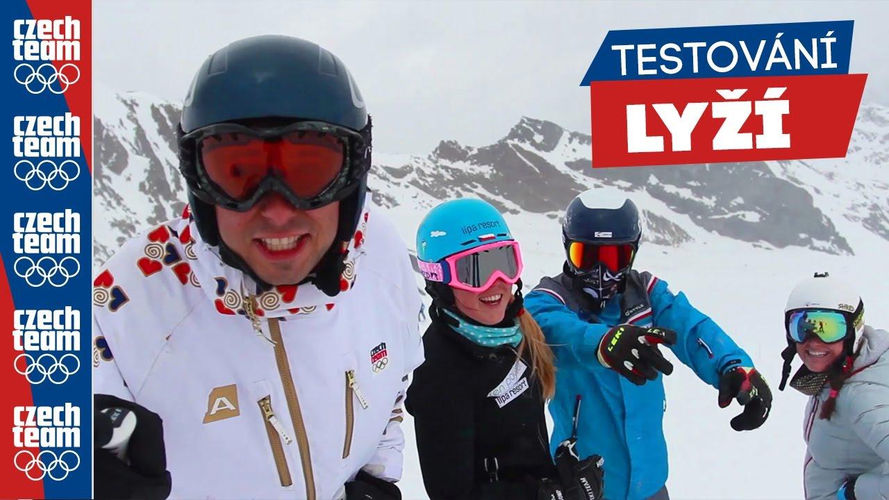 Testování lyží s českými reprezentanty