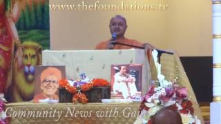 Swami Nalinanand Giri ji at Shivalaya Temple in Boston