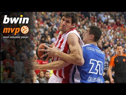 Regular Season Round 7 bwin MVP: Boban Marjanovic, Crvena Zvezda Telekom Belgrade