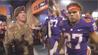 Video Clemson Football || Father returns from Afghanistan to surprise son before a game MP3, 3GP, MP4, WEBM, AVI, FLV Juni 2019