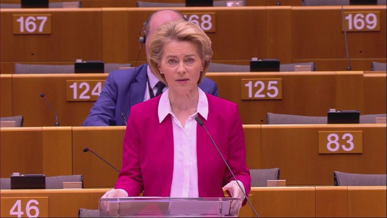 Λόγος της Προέδρου φον ντερ Λάιεν στο Ευρωπαϊκό Κοινοβούλιο για την επιδημική έξαρση της COVID-19