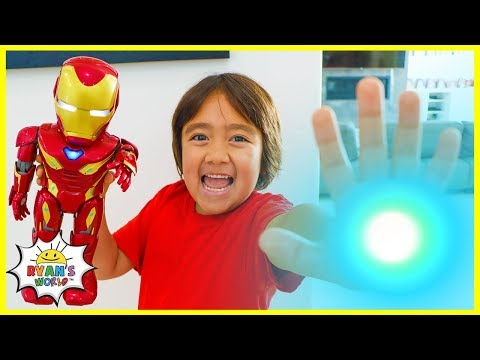 Ironman Avengers Superhero Robot team up with Ryan!!I