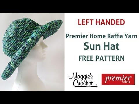 Raffia Sun Hat Free Crochet Pattern – Left Handed