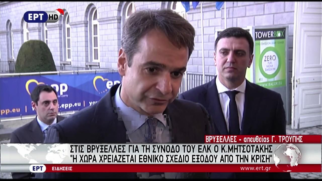 Κυρ. Μητσοτάκης: Η χώρα χρειάζεται εθνικό σχέδιο εξόδου από την κρίση
