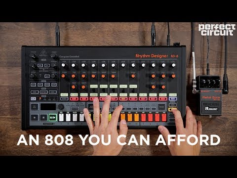 Behringer RD-8 Analog Drum Machine With MS-1 + Waza Craft Pedals