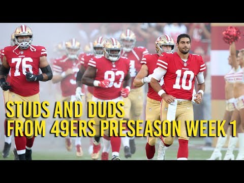 Studs and duds from 49ers preseason win over Cowboys