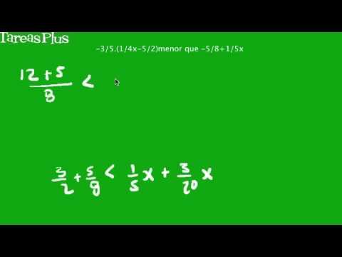 Solución de una inecuación lineal simple