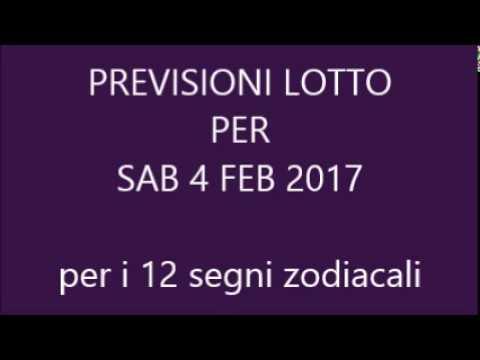 Previsioni per il Lotto ★ Estrazione Sabato 4 Febbraio 2017