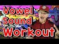 Vowel Sound Workout | Phonics Song for Kids | Exercise and Movement Song | Jack Hartmann