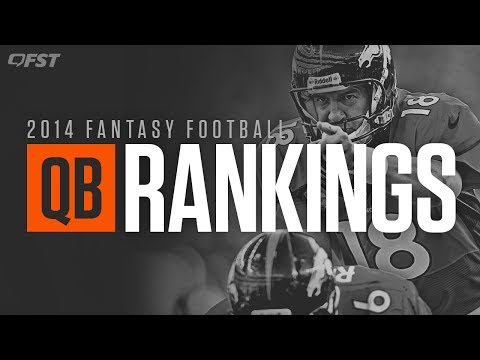 2014 Fantasy Football: Quarterback (QB) Tiers and Rankings thumbnail