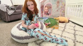 D.I.Y Mermaid tail with a Zipper out of pajamas and matching barbie doll