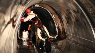 Bezwykopowa renowacja kanału o średnicach od 1500/2200 do 2350/3000