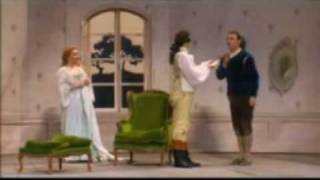 From a 1993 performance of Mozarts Le nozze di Figaro (The Marriage of Figaro) at the Théàtre du Châlet in Paris, directed by Jean Louis Thamin and conducted by John Eliot Gardiner. Bryn Terfel (Figaro), Alison Hagley (Susanna), Rodney Gilfry (Count Almaviva), Hillevi Martinpelto (Countess Almaviva), Julian Clarkson (Antonio).