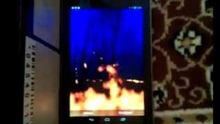 Raging fire FULL livewallpaper YouTube video