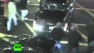 CCTV video of Prince Charles car attacked during London student riots