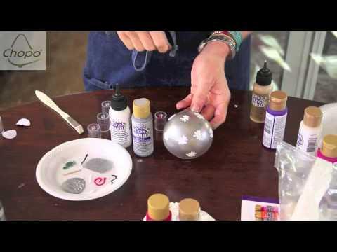 Bolas para el arbol de navidad - Como decorar una bola de navidad ...