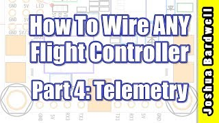 Please consider supporting original educational content like this by joining my Patreon: https://www.patreon.com/thedroneracingengineerIn this video series, I will teach you how to wire up ANY flight controller without reference to a diagram or manual. You'll know how to power the board and connect accessories like camera, vTX, and receiver. Quadcopter flight controllers seem complicated at first glance, but they all do pretty much the same thing. Once you understand this, wiring them up is easy.In this part, I'll teach you how to get FrSky and SmartPort telemetry working on your FC. Even if you don't intend to use telemetry for voltage monitoring, it's still required if you want to use the Taranis Lua script to change PIDs, rates, and configure your vTX.Link to this playlist: https://www.youtube.com/playlist?list=PLwoDb7WF6c8lCcjOh26ZVQsLQtjGPQcgy